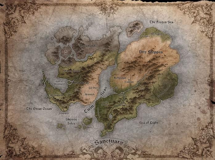 mapa de santuário