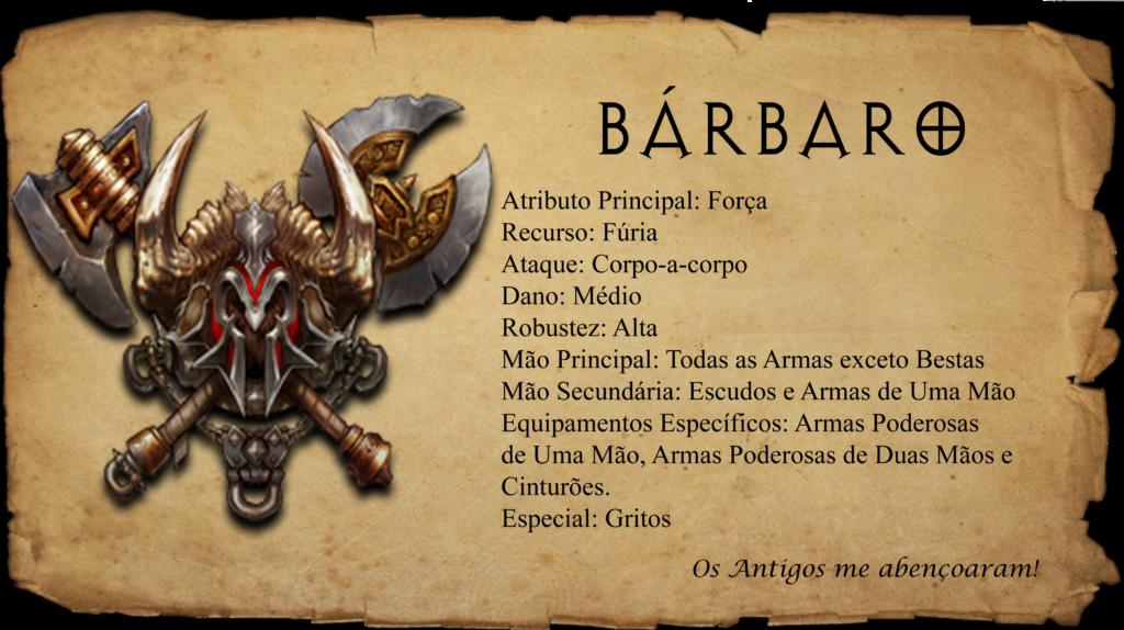 Ficha Classe Bárbaro